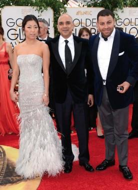 Sanjiv Ramdanee aujourd'hui, représentant l'entreprise familiale aux Golden Globes 2013.