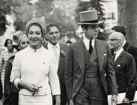 Alexis de Rédé avec la Callas en 1968 D.R.