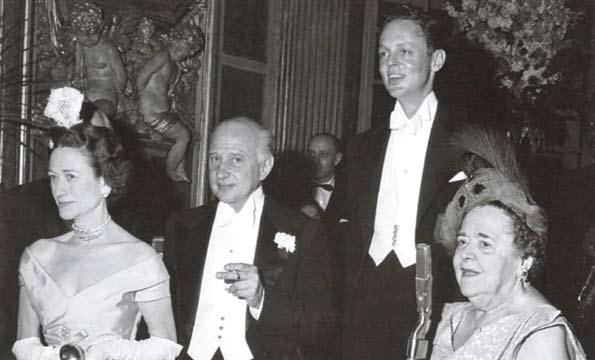 la duchesse de Windsor, don Carlos de Beistegui et Alexis de Rédé D.R.